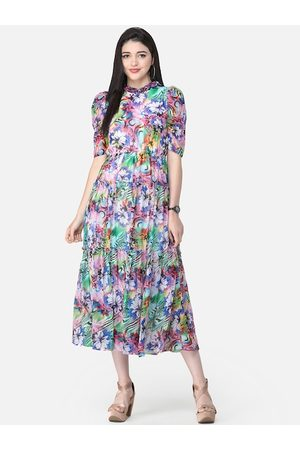 Scorpius Women Multicoloured Printed Fit and Flare Dress