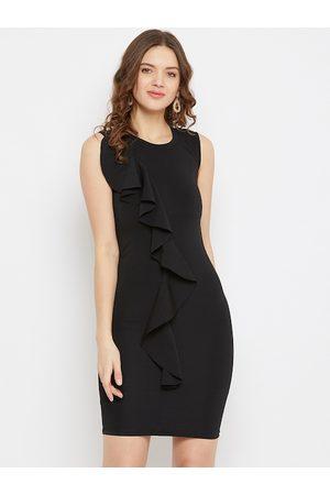 U&F Women Black Solid Bodycon Dress