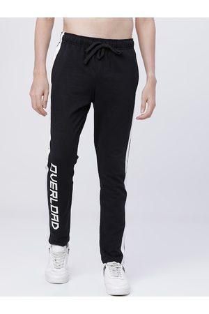 Highlander Men Black & White Solid Slim-Fit Track Pants
