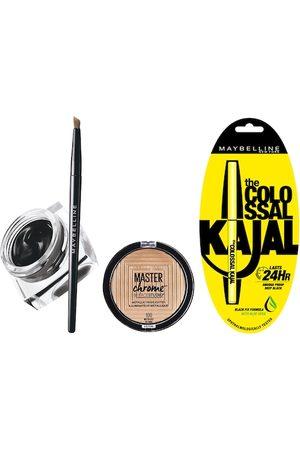 Maybelline Set of New York Colossal Kajal, Gel Eyeliner & Metallic Highlighter