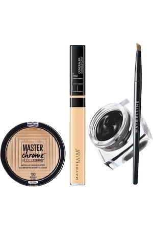 Maybelline New York Set of Fit Me Concealer & Gel Eyeliner & Metallic Highlighter