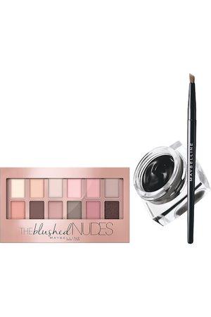 Maybelline Lasting Drama Gel Eyeliner & The Blushed Nudes Eye Shadow Palette Set