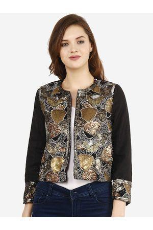 Diwaah Women Black Embellished Tailored Jacket