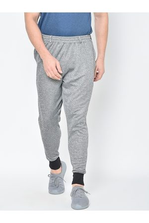 CHKOKKO Men Grey Solid Knitted Training or Gym Joggers
