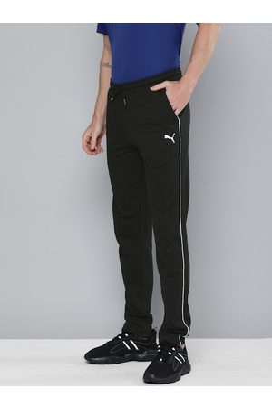 PUMA Men Black Slim Fit Solid Slub Sweat Pants