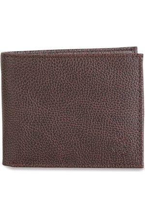 ZEVORA Men Brown Textured Two Fold Wallet