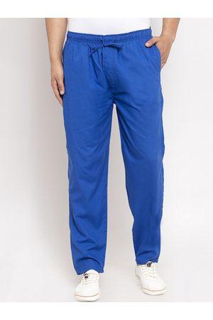 JAINISH Men Blue Solid Slim-Fit Track Pants