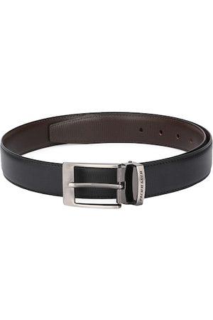 Pacific Men Black & Brown Reversible Leather Belt