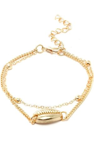 OOMPH Women Gold-Plated Dual Stranded Anklet