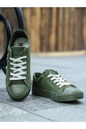 British Knights Men Olive Green Nubuck Leather Sneakers