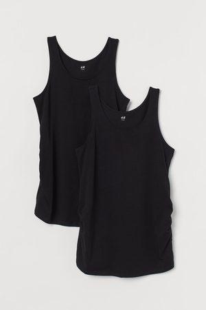 H&M MAMA 2-pack cotton vest tops