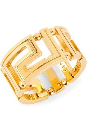 VERSACE Men Rings - Greca Goldtone Ring