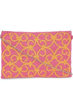 Diwaah Pink & Yellow Embellished Tote Bag