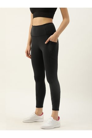 ENAMORA Women Black Solid Athleisure E258 Active Tights