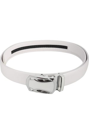Kastner Men White Textured Belt