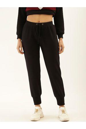 Laabha Women Black Solid Slim-Fit Joggers