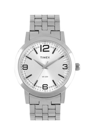 Timex Men Silver-Toned Dial Watch TI000T11200