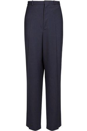 Balenciaga Oversize Tailored Wool Twill Pants
