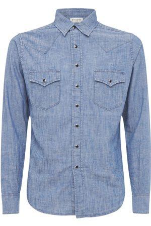 Saint Laurent Classic Western Cotton Linen Denim Shirt