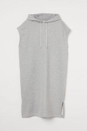 H&M Women Sweatshirts - Hooded sweatshirt dress - Grey