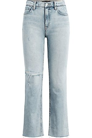 Hudson Remi High-Rise Straight Cropped Jeans
