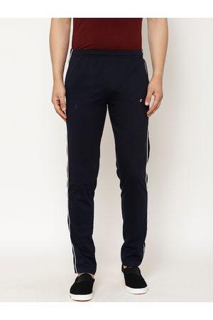 SAPPER Men Navy Blue Solid Slim Fit Track Pants