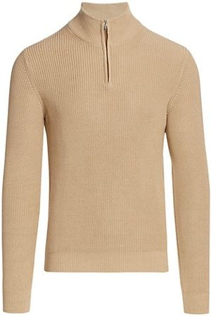 Saks Fifth Avenue COLLECTION Solid Quarter-Zip Sweater
