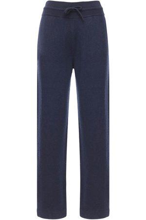 Agnona Cashmere Knit Wide Leg Sweatpants