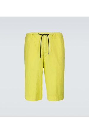 DRIES VAN NOTEN Men Shorts - Wide-leg cotton shorts