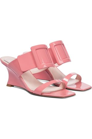 Roger Vivier Viv' In The City patent leather sandals