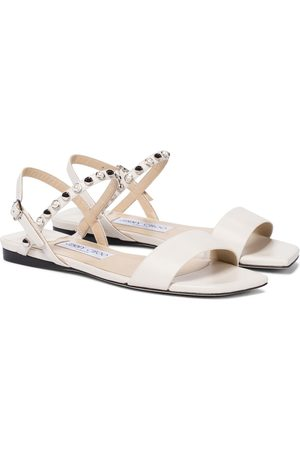 Jimmy Choo Aadra embellished leather sandals