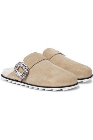 Roger Vivier Women Flats - Slidy Viv' suede slippers