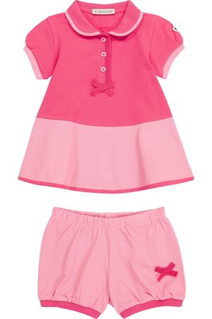 Moncler Baby stretch-cotton dress and bloomers set