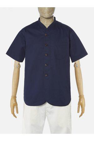 Universal Works Men Short Sleeve - ML Shirt - Navy