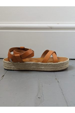 Isabel Marant Melyz Tan Leather Espadrille Sandals