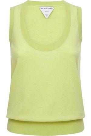Bottega Veneta Women Tank Tops - Cashmere Knit Sleeveless Top