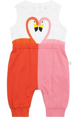Stella McCartney Baby Flamingo cotton onesie