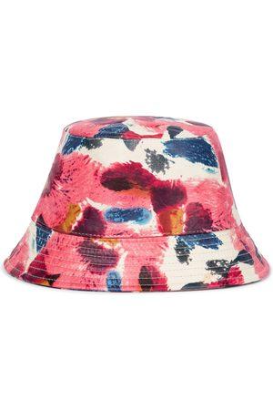 Isabel Marant Women Hats - Haley floral leather bucket hat