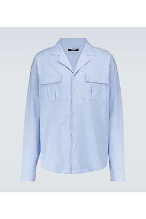 Balmain Camp-collar cotton shirt