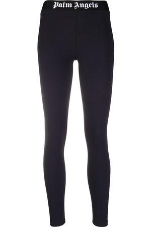 Palm Angels Women Leggings - Logo-waistband leggings