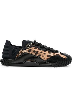 Dolce & Gabbana Leopard panel low-top sneakers