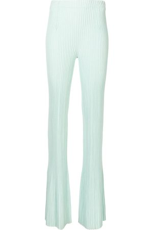 Proenza Schouler Ribbed flared trousers