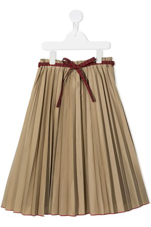 Familiar Girls Skirts - Belted pleated skirt