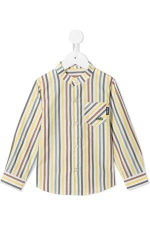 Familiar Striped long-sleeved cotton shirt