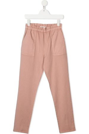 BONPOINT Girls Slim Trousers - High-rise slim-fit trousers
