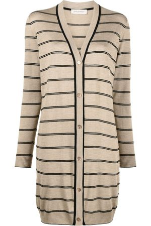 GENTRYPORTOFINO Striped knit cardigan