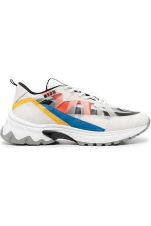 Msgm Men Sneakers - Panelled low-top sneakers
