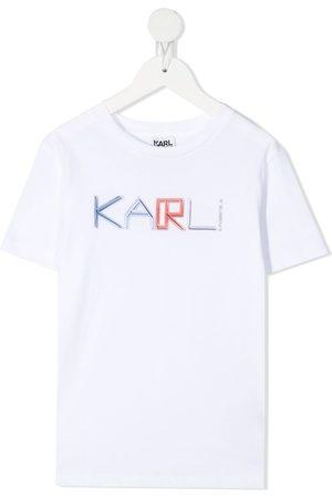 Karl Lagerfeld Chest logo print cotton T-shirt