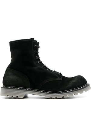 Premiata Men Boots - Contrast-stitching leather boots