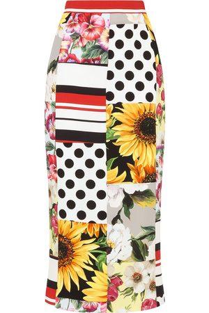 Dolce & Gabbana Mix-print midi skirt